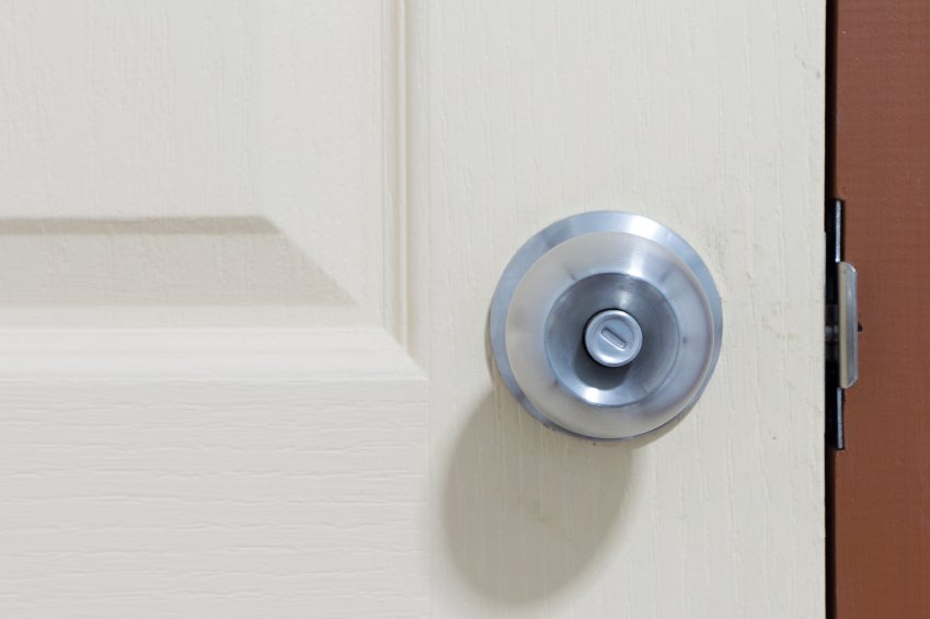push button door knob photo - 15