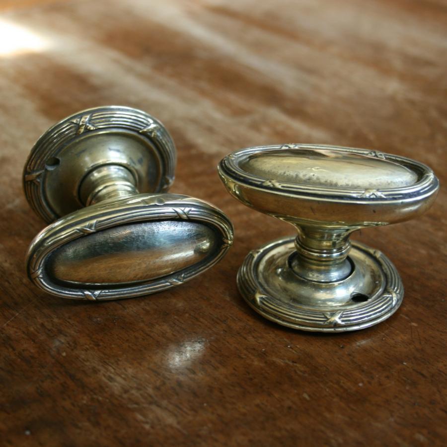 reclaimed brass door knobs photo - 15