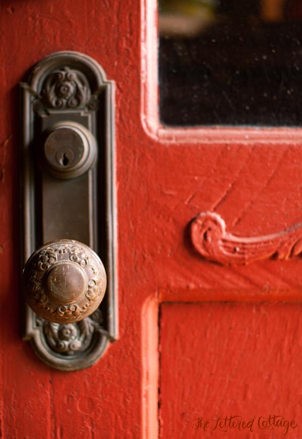 red door knob photo - 15