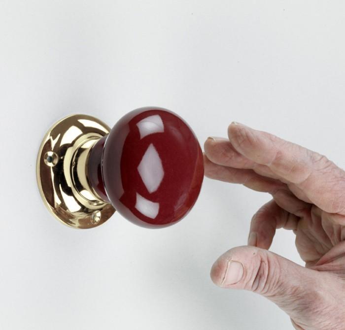 red door knob photo - 8