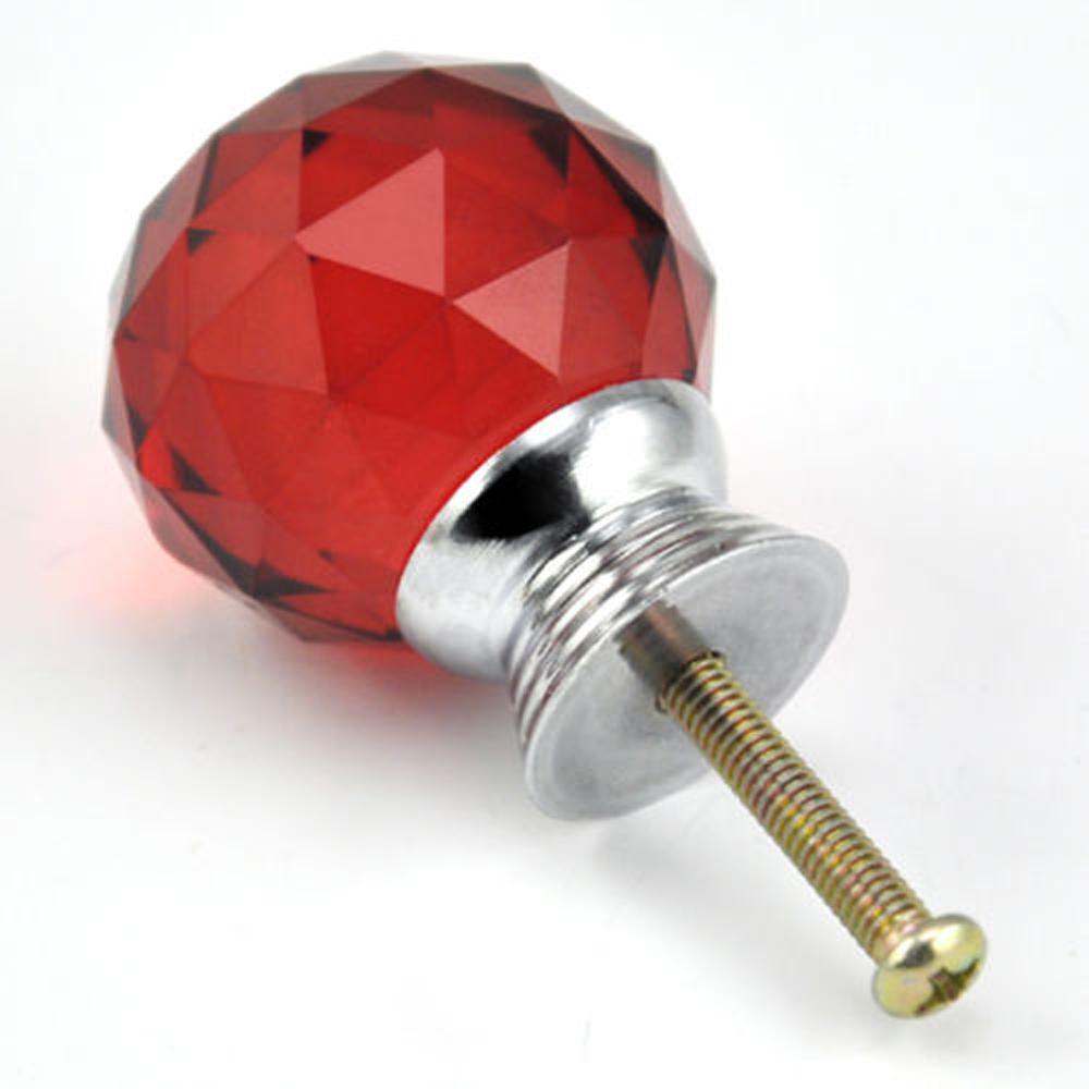 red glass door knobs photo - 13