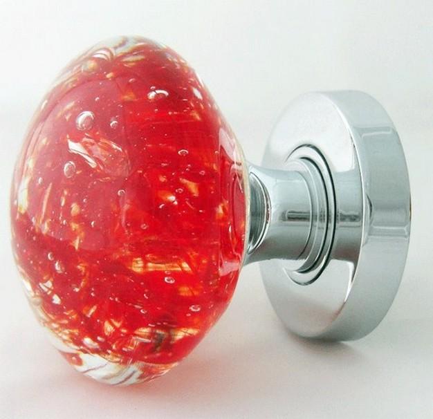 red glass door knobs photo - 7