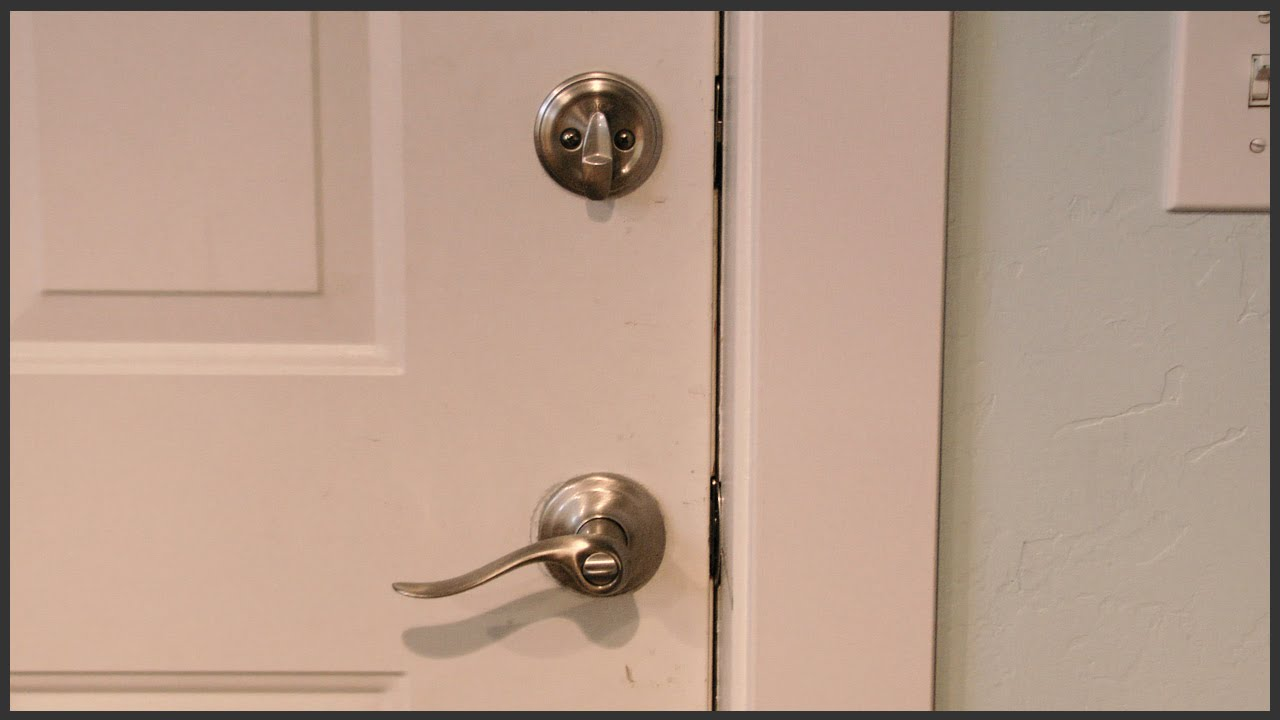 replace door knob with deadbolt photo - 20