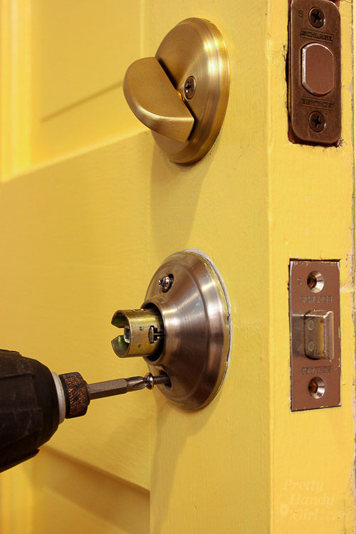 replace door knob with deadbolt photo - 6
