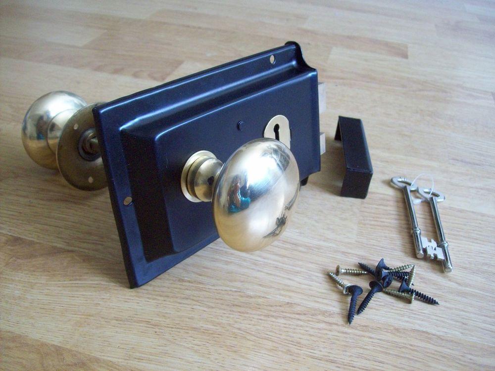 rim lock door knob photo - 2
