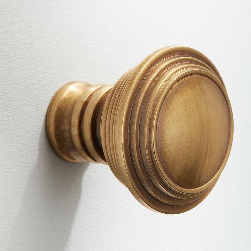 Satin brass door knobs – Door Knobs