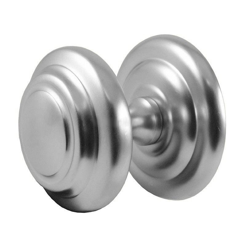 satin chrome door knobs photo - 6