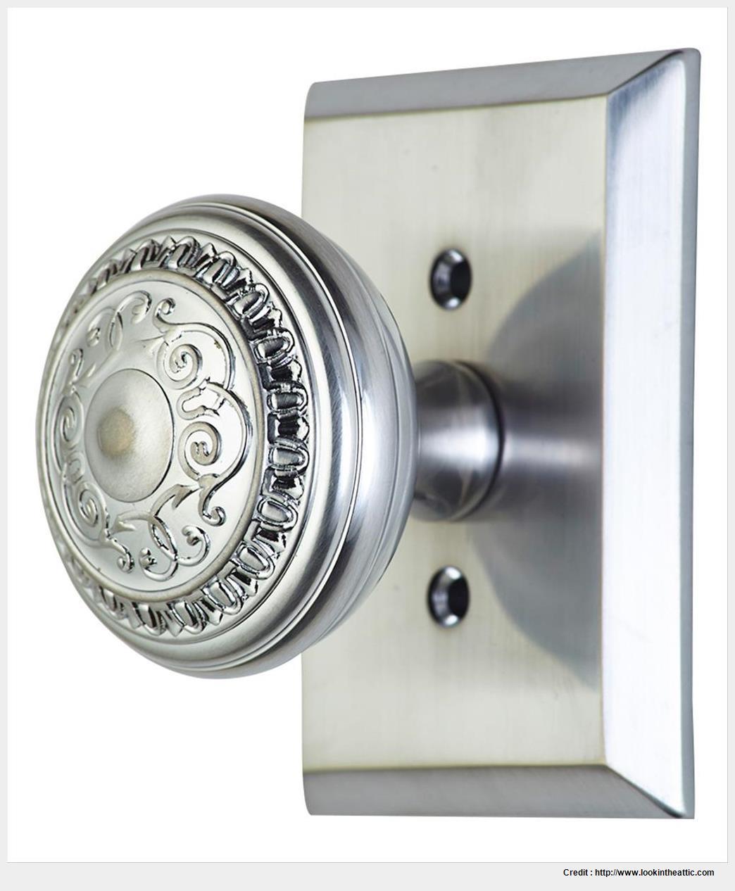 satin nickel interior door knobs photo - 11