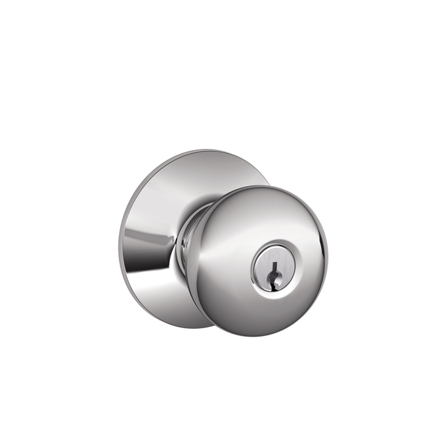 schlage chrome door knobs photo - 10