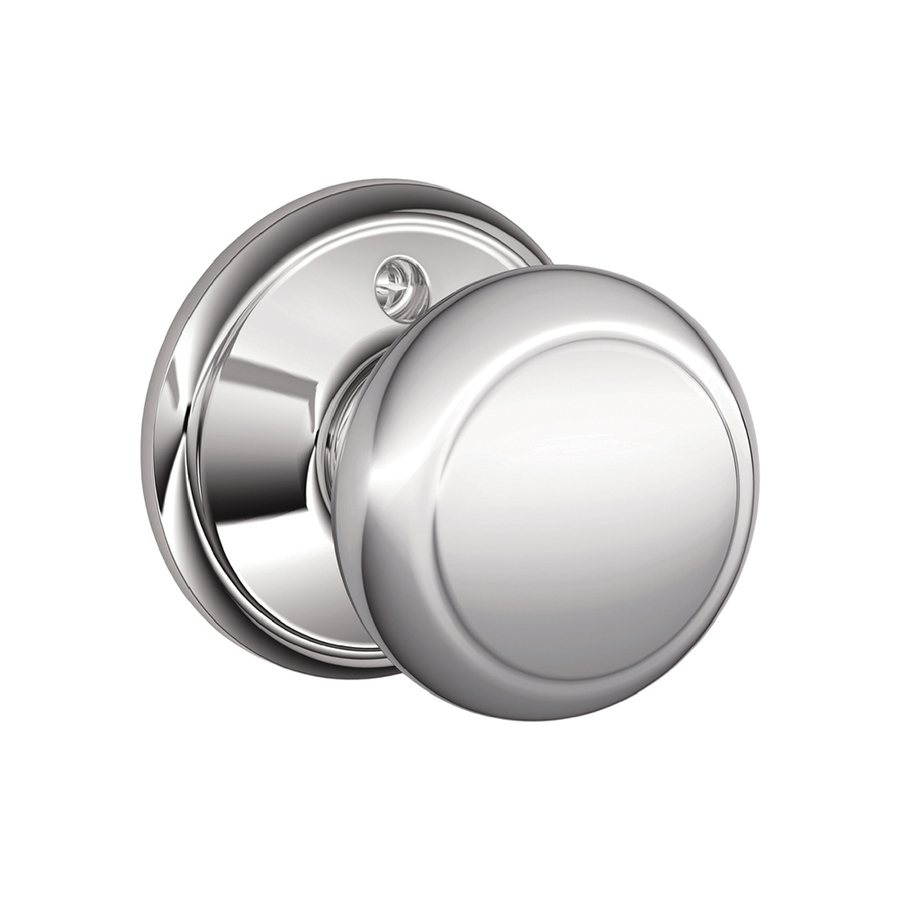 schlage chrome door knobs photo - 11