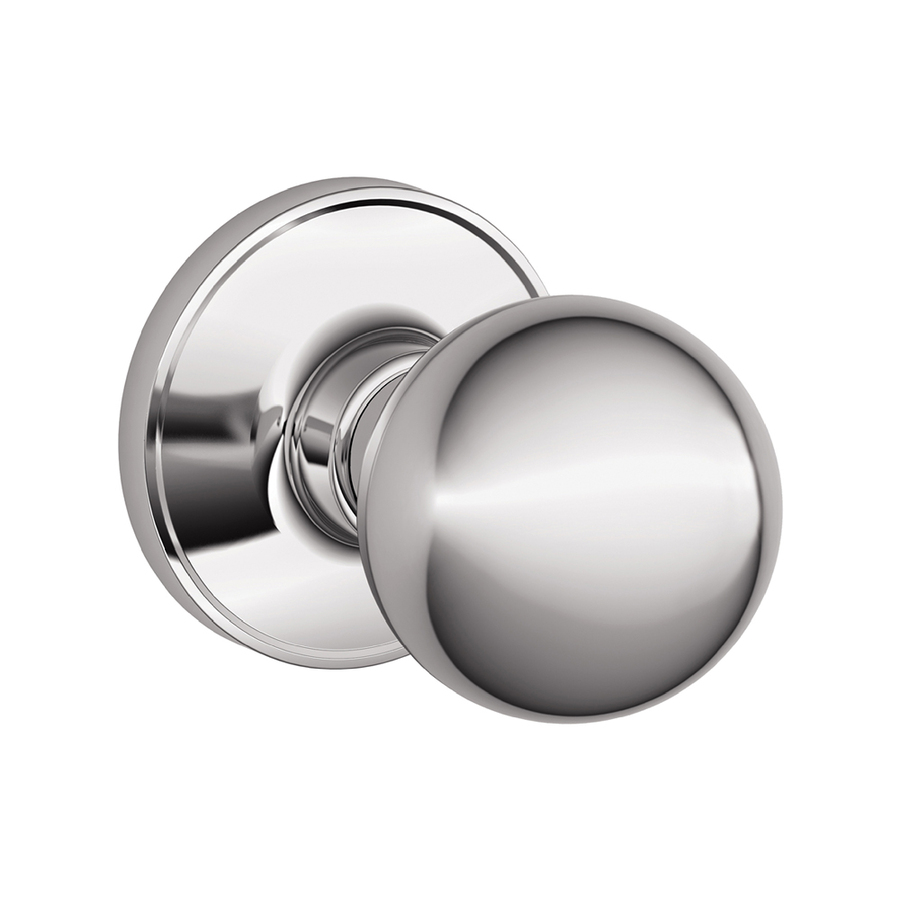 schlage chrome door knobs photo - 12
