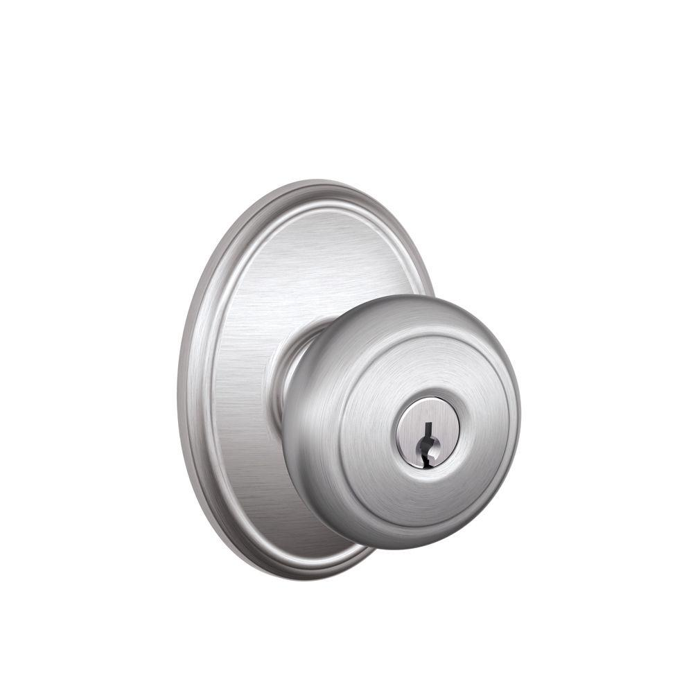 schlage chrome door knobs photo - 14