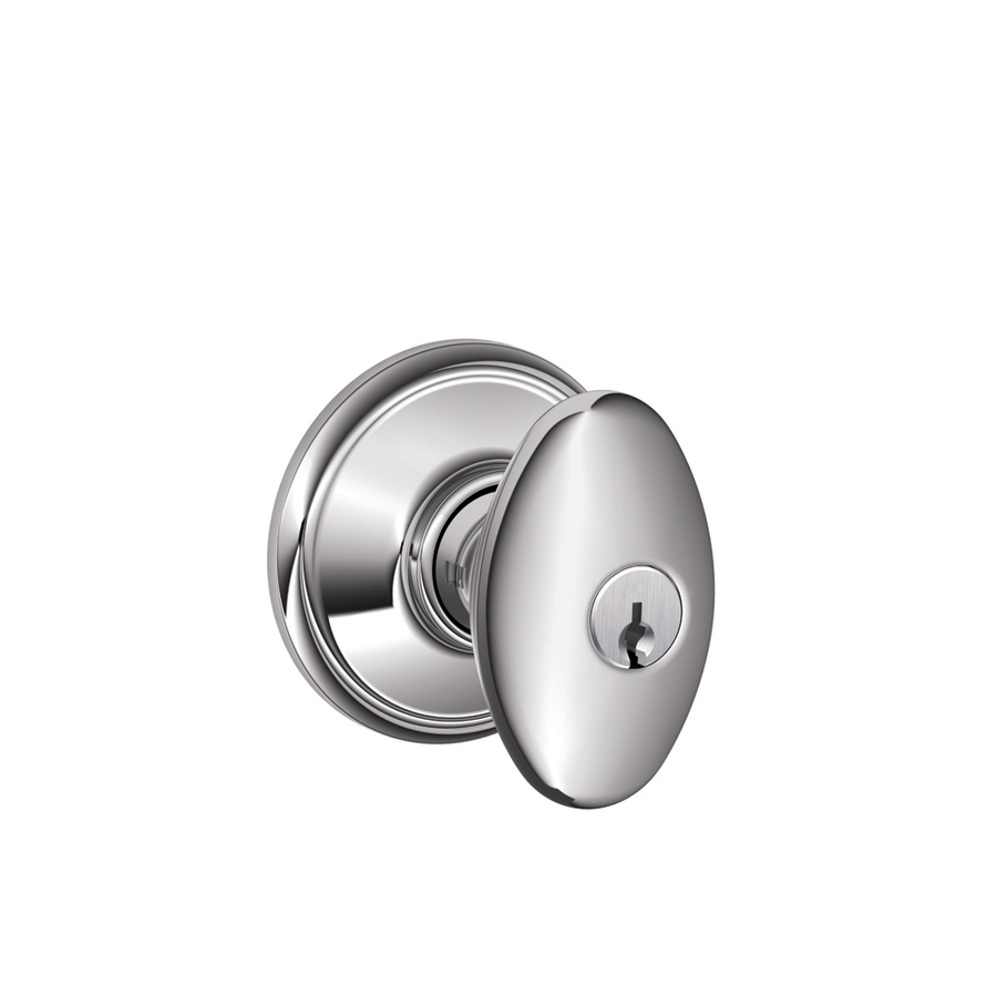 schlage chrome door knobs photo - 16