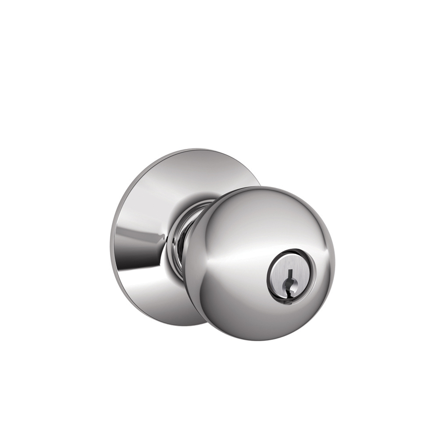 schlage chrome door knobs photo - 2