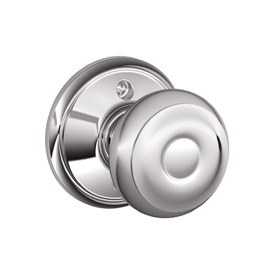 schlage chrome door knobs photo - 4