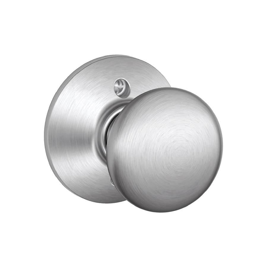 schlage chrome door knobs photo - 8
