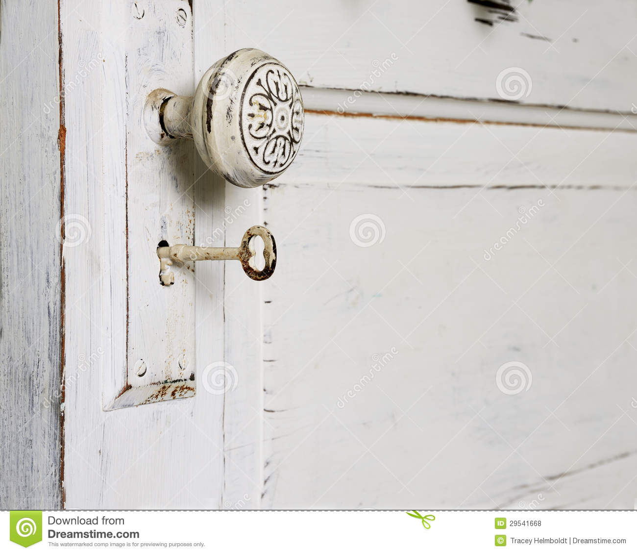 skeleton key door knob photo - 3