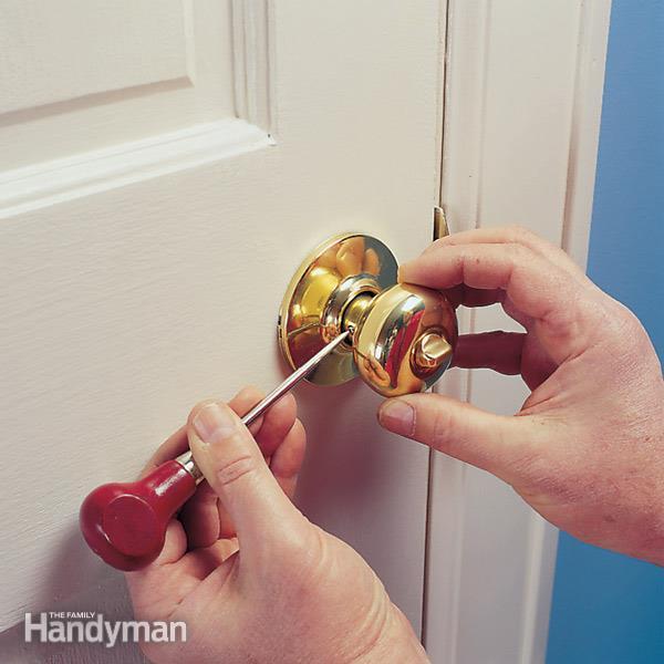 tighten loose door knob photo - 1