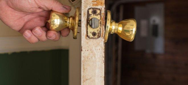tighten loose door knob photo - 14