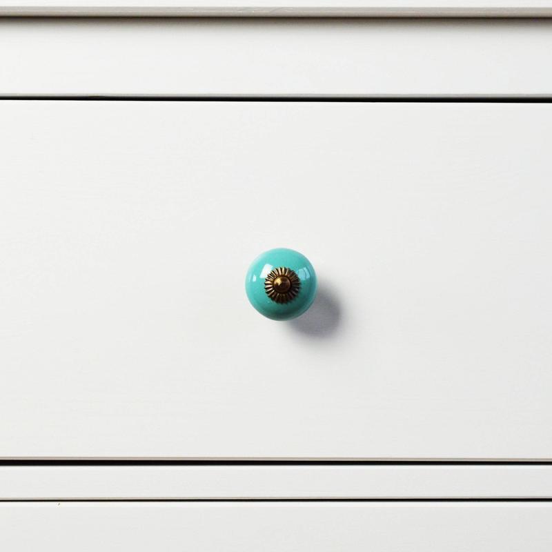 turquoise door knobs photo - 11