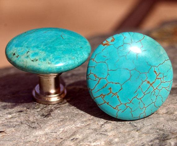 turquoise door knobs photo - 16