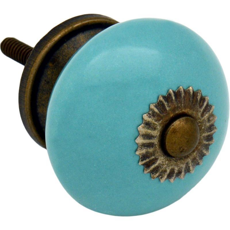 turquoise door knobs photo - 19
