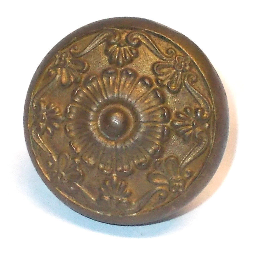 victorian brass door knobs photo - 11