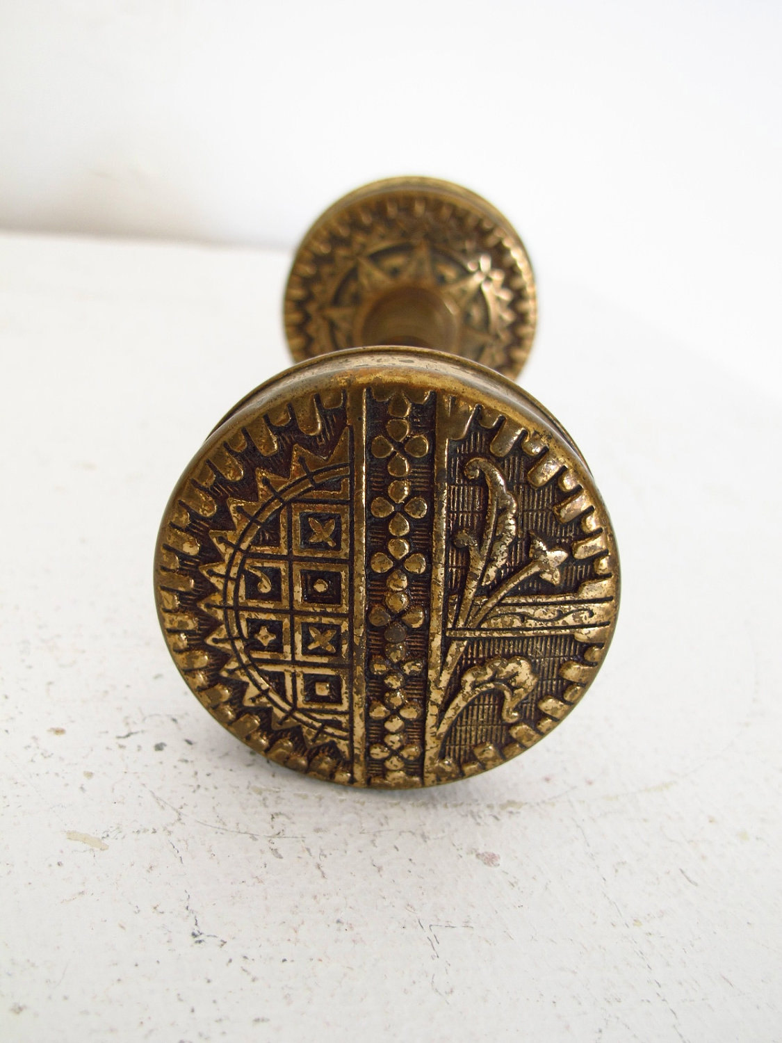 victorian brass door knobs photo - 9
