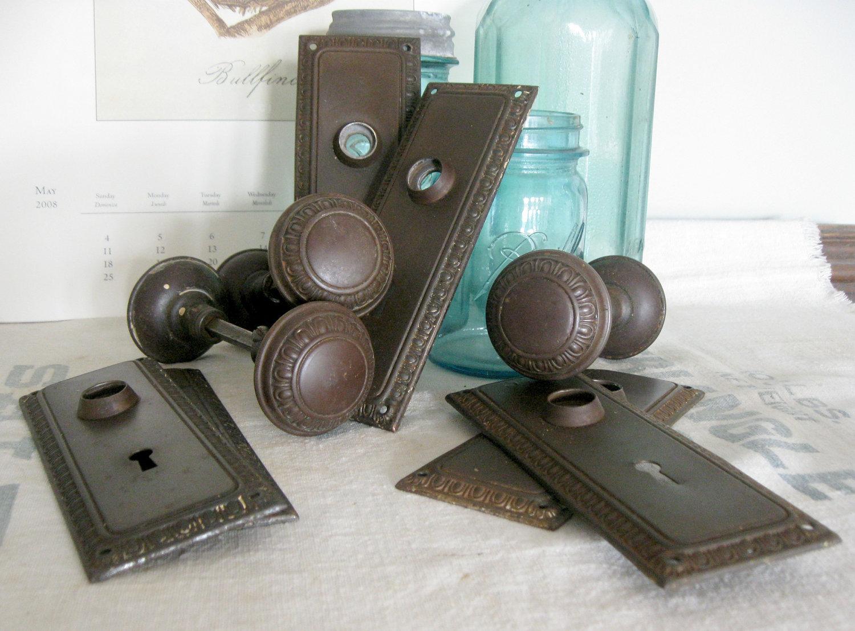 vintage door knob backplates photo - 10