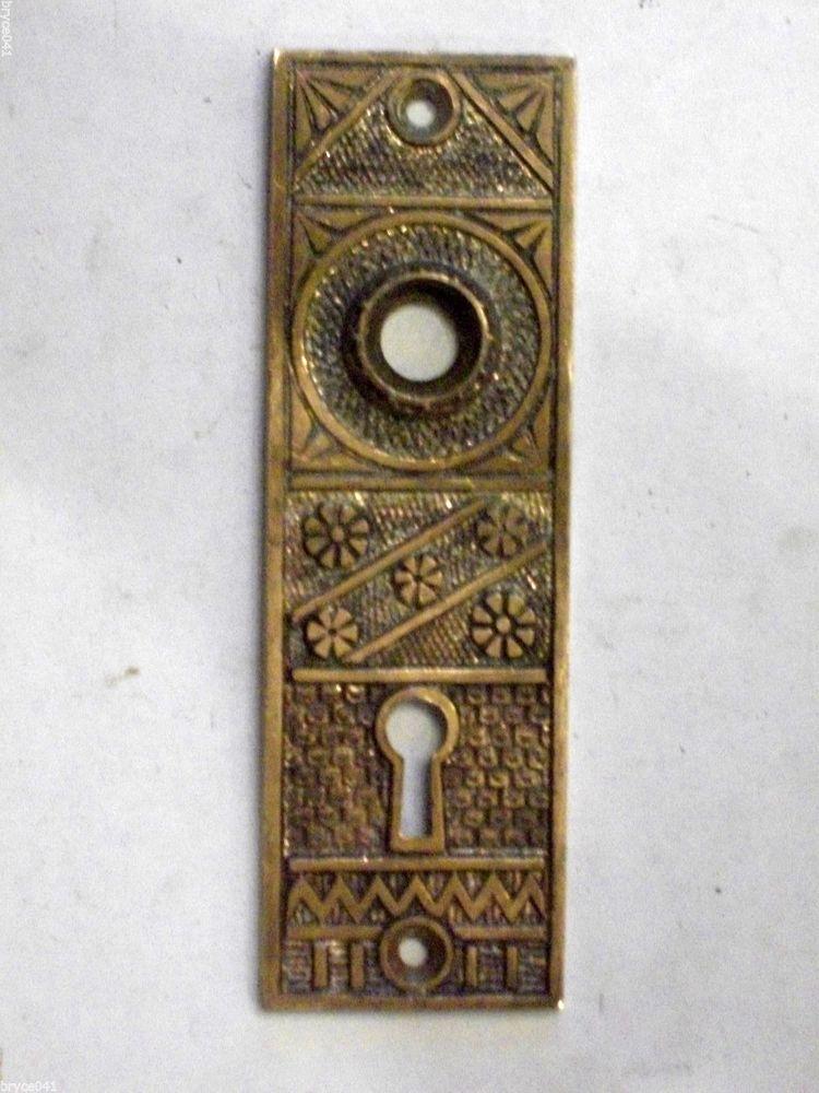 vintage door knob backplates photo - 11