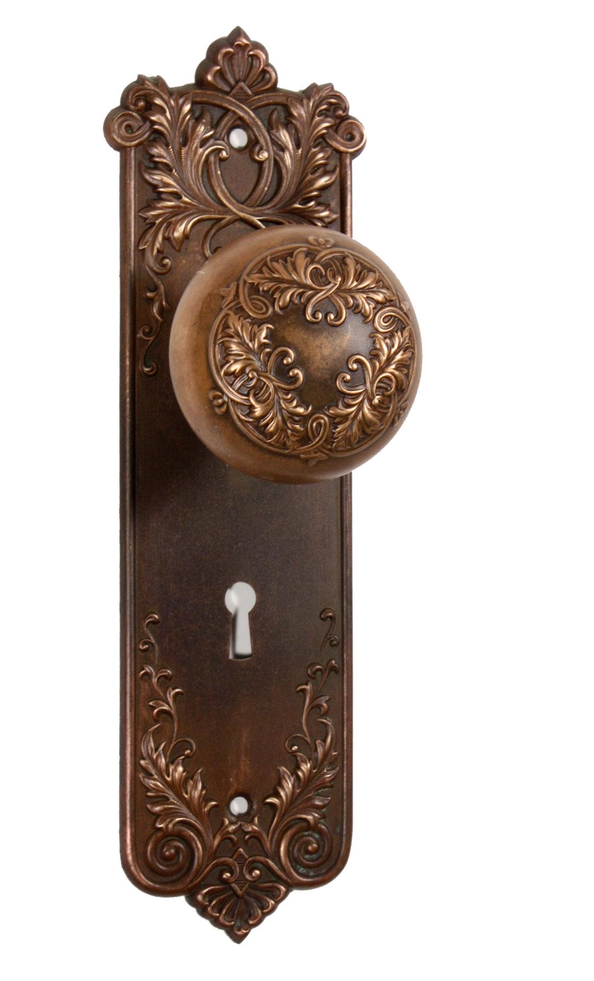 vintage door knob backplates photo - 13