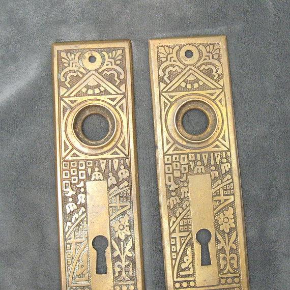 vintage door knob backplates photo - 14