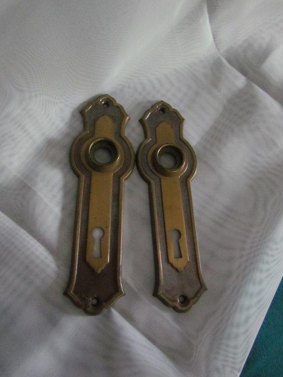 Vintage Door Knob Backplates Door Knobs