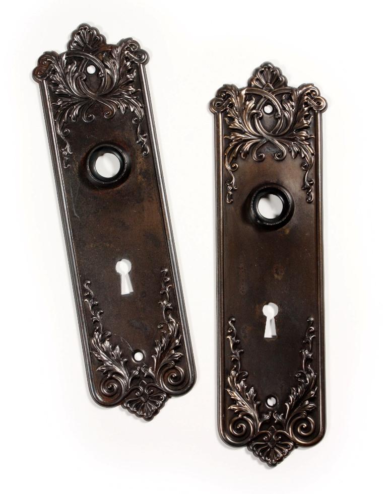 vintage door knob backplates photo - 9