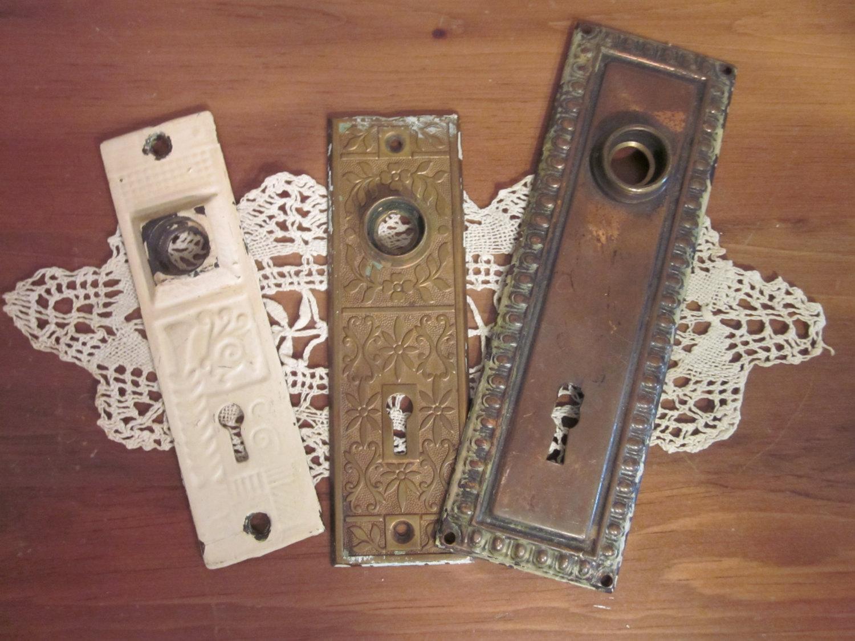 vintage door knob plates photo - 18