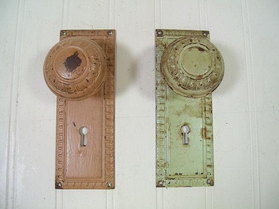 vintage door knob plates photo - 5