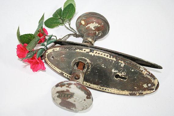 vintage door knobs and plates photo - 12