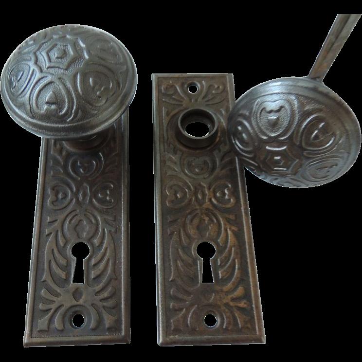 vintage door knobs and plates photo - 19