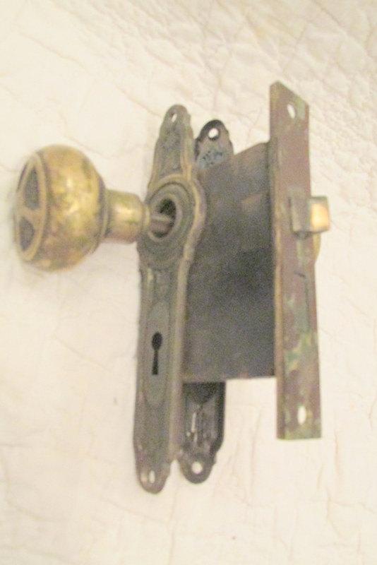 vintage door knobs and plates photo - 6