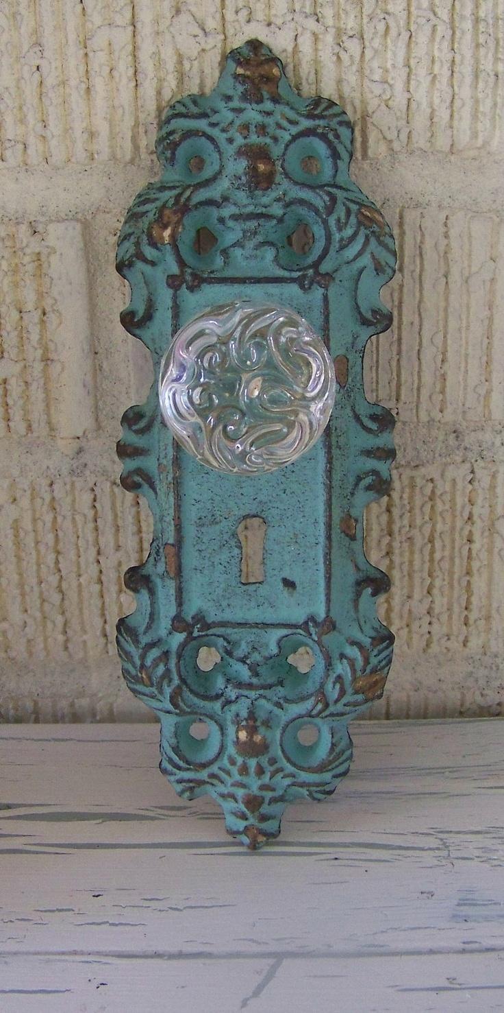 vintage door knobs and plates photo - 8