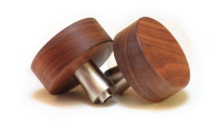 walnut door knobs photo - 6