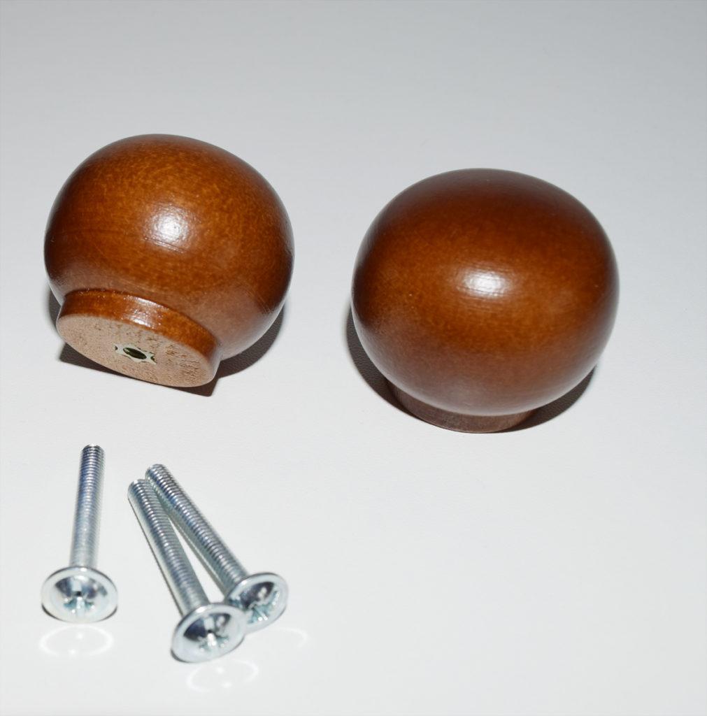 walnut door knobs photo - 9