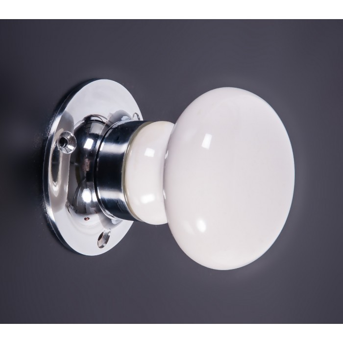 white ceramic door knobs photo - 15