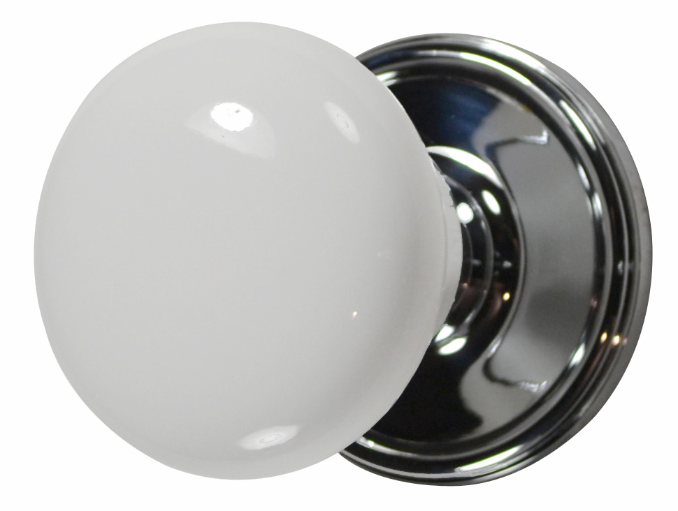 white porcelain door knobs photo - 6