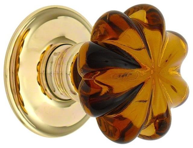 amber glass door knobs photo - 11