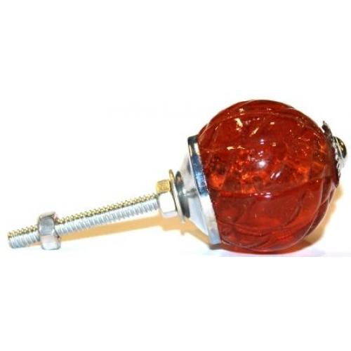 amber glass door knobs photo - 12