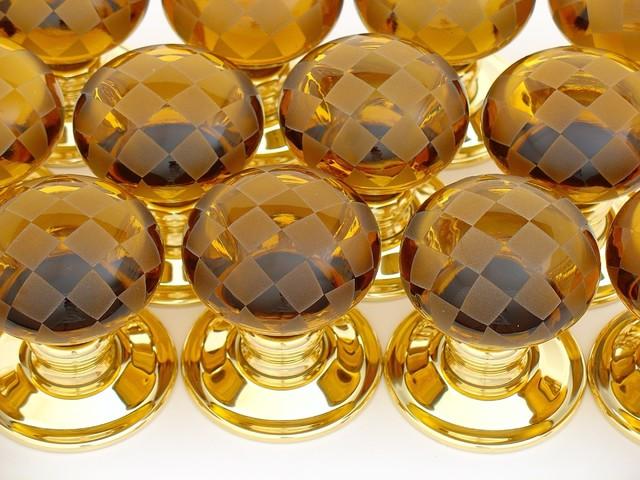amber glass door knobs photo - 14