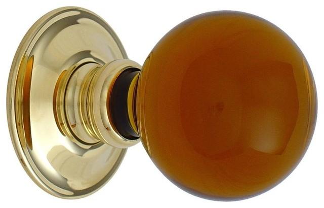 amber glass door knobs photo - 17