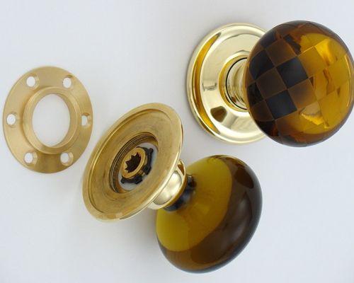 amber glass door knobs photo - 19