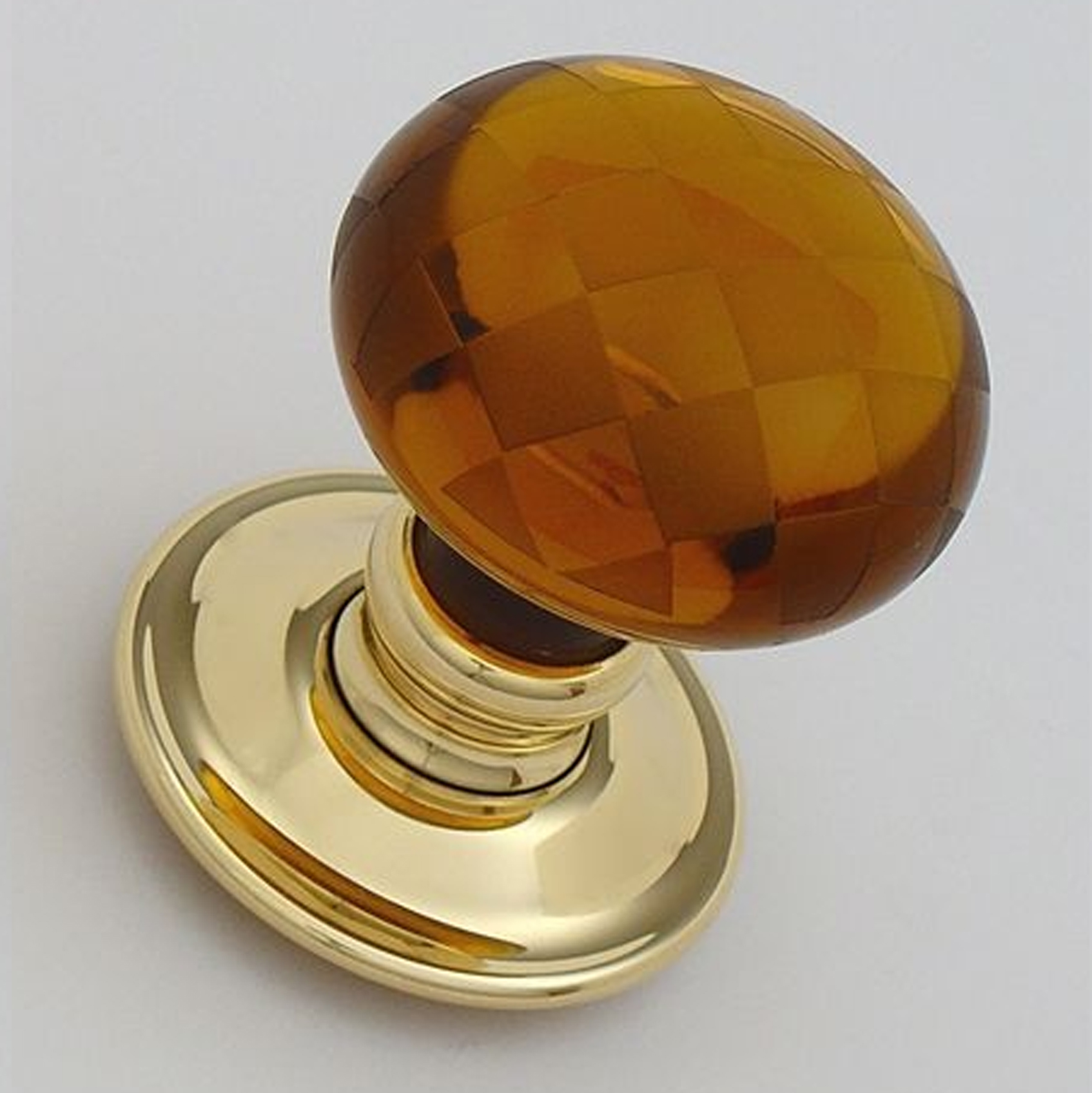 amber glass door knobs photo - 2